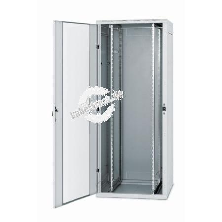 Triton 19' Serverschrank RJA, 22 HE, 600 x 800 mm, hellgrau RAL 7035 Bis 600 kg belastbarer Serverschrank mit abnehmbare Seiten- und Rückwänden, IP20