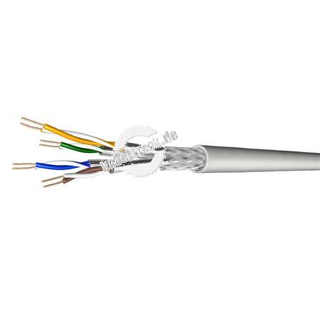 Draka Patchkabel UC900 SS27, Cat. 7, S/FTP (PiMF), halogenfrei, grau, 500 m Einwegtrommel Paarweise und gesamtgeschirmtes Patchkabel