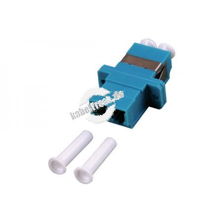 LWL Kupplung LC/LC, Duplex, Singlemode, Kunststoff-Gehäuse mit Keramik-Ferrule, blau Ausbrüche 9 x 13 mm