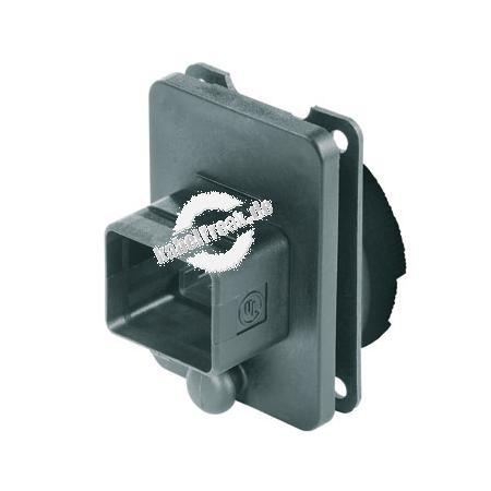 Metz Connect E-DAT Industry Flanschgehäuse 'V4', IP67, System Steadytec Wasserdichtes Flansch für RJ45 Buchseneinsatz zur Montage an Gehäusen, Flanschgehäuse
