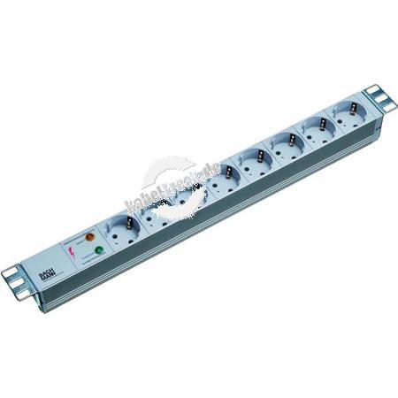 Bachmann 19' PDU Basic, Steckdosenleiste mit Überspannungsschutz, 8-fach Schutzkontaktsteckdose