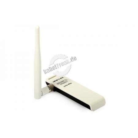 TP-Link Wireless Netzwerkadapter, 150 Mbit/s (2,4 GHz), 'High Gain', 1T1R, USB 2.0 Preisgünstiger Adapter zum Anschluss eines PCs oder Notebooks an ein Wireless LAN