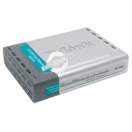 D-Link Fast Ethernet Switch, 8 Port, Desktop Switch zum Anschluss von bis zu 8 PCs an ein Fast Ethernet Netzwerk