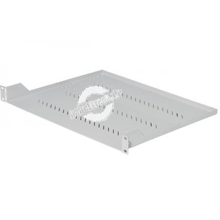 Triton 19' Fachboden für Wandgehäuse und Netzwerkschränke, Frontmontage 1 HE, Tiefe 350 mm, 40 kg, hellgrau RAL 7035 Zur Befestigung an 2 Holmen