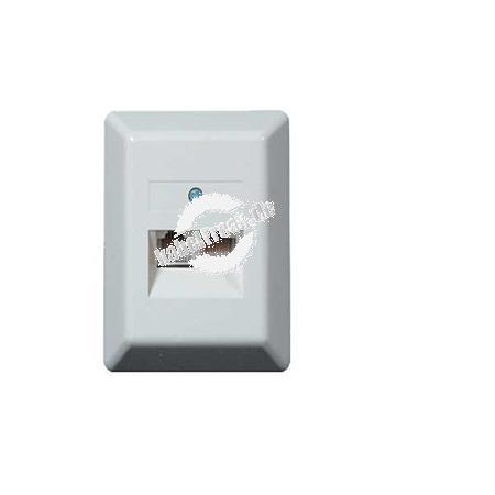Modular Anschlussdose UAE 8/8(8), 2-fach, 8 Kontakte, Aufputz, perlweiß RAL 1013 Zum Anschluss von 2 Geräten an getrennte Leitungen
