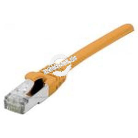 Patchkabel Cat. 6A, F/UTP, halogenfrei, mit Rastnasenschutz, orange, 25,0 m 10-Gigabit-fähiges Patchkabel mit besonders schmalem Knickschutz