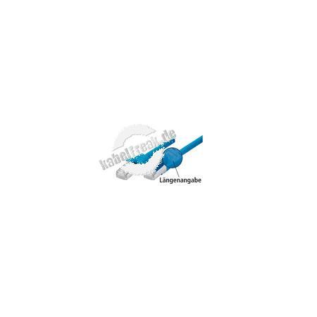 Patchkabel Cat. 5e, SF/UTP, mit Rastnasenschutz, blau, 2,0 m Geschirmtes Patchkabel mit schmalem Knickschutz