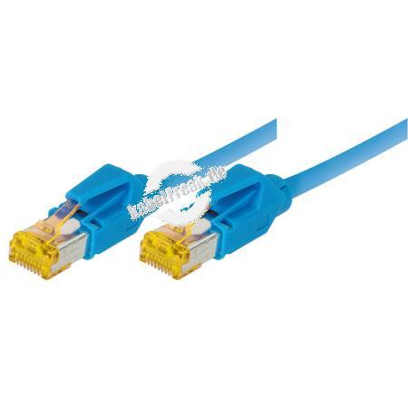 Tecline Patchkabel Cat. 6A (ISO/IEC), S/FTP, halogenfrei, mit Rastnasenschutz, blau, 3,0 m 10-Gigabit-fähiges Premiumpatchkabel mit Draka Cat. 7 Rohkabel