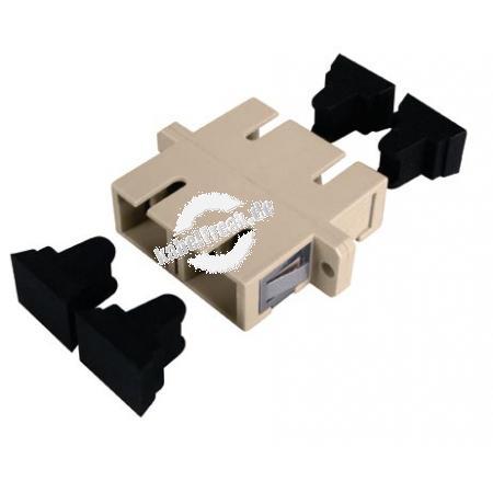 LWL Kupplung SC/SC, Duplex, Singlemode, Kunststoff-Gehäuse mit Keramik-Ferrule,
