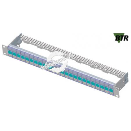 MetzConnect Modulträger für 24 E-DAT modul Anschlussbuchsen, 19', silber eloxiert Zum Aufbau eines Patchfeldes mit bis zu 24 Ports