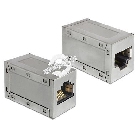 DeLOCK Modularadapter RJ45 Buchse / Buchse Cat.6  Diesen RJ45 Adapter von Delock können Sie z.B. zwischen zwei Kabel schalten, um Ihre Netzwerkverbindung zu verlängern