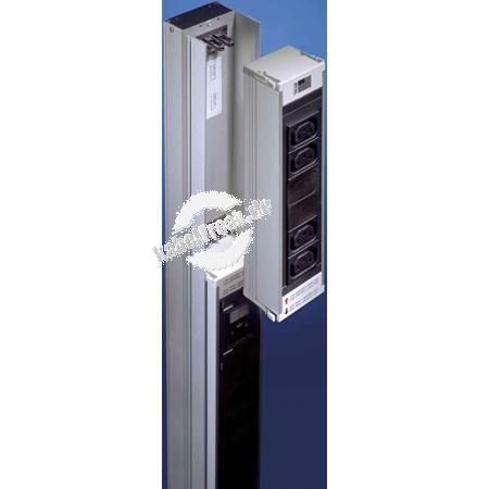 Rittal DK 7856.080 PSM 6-fach Kaltgeräte Einsteckmodul ohne Sicherung Stromschiene für 19' Schränke zum einbau von Schutzkontakteinsteckmodulen