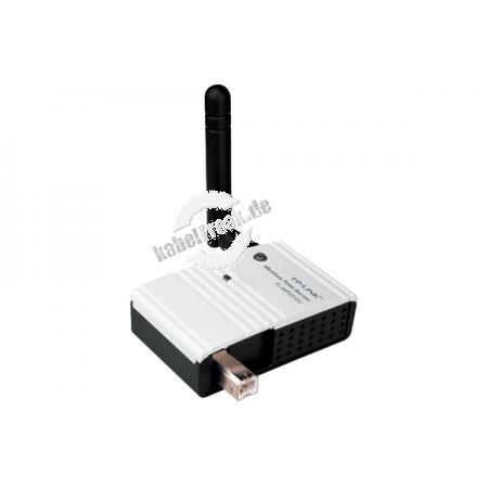 TP-Link Wireless Printserver, 54 Mbit/s, 1x USB 2.0 Äußerst kompakter Printserver zum Anschluss eines Druckers mit USB-Anschluss an ein Wireless LAN