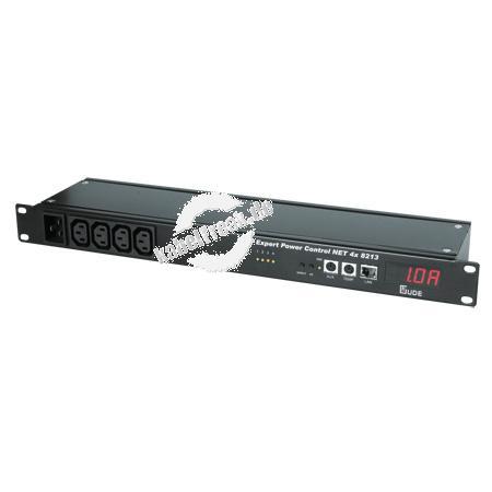 Gude Expert Power Control 4x 8213, 4-fach, 19', Stromanschlüsse frontseitig Der Remote Power Switch für TCP/IP-Netzwerke