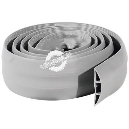 Flexibler Kabelkanal aus PVC, flexibel,  für bis zu 5 Kabel, 1,80 m, grau Für den Schutz von Kabeln aller Art und für die Vermeidung von Stolperfallen