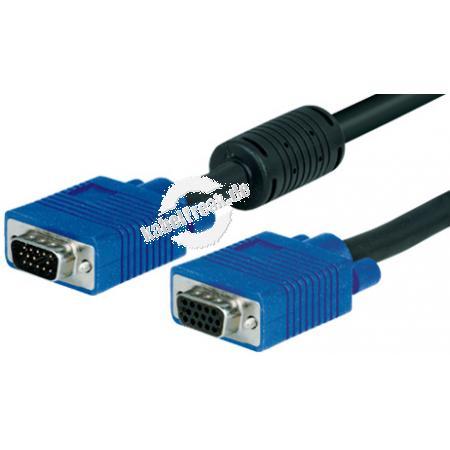 S-VGA Monitorkabel, 15pol HD D-Sub St./Bu., 3,0 m