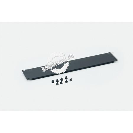 Triton 19' Blindplatte, steckbar, 4 HE, Stahlblech, schwarz RAL 9005, mit Kunststoffstöpsel Zur Abdeckung der freien Räume zwischen den 19' Profilen