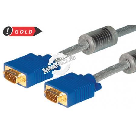 S-VGA Monitorkabel High Quality, vergoldet, 15pol HD D-Sub St./St., 30,0 m Hochwertiges Monitorkabel für beste Bildqualität