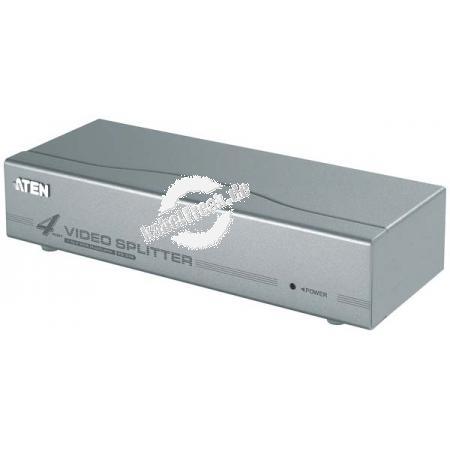 ATEN VGA-Splitter, 4-fach, 350 MHz Verteilt das VGA Signal von 1 Computer auf mehrere Monitore gleichzeitig