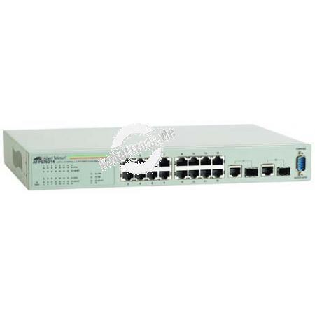 Allied Telesis Gigabit Switch AT-FS750/16, 2 Port 1 Gigabit/s, 16 Port 100 Mbit/s, Uplink-Slots, 19' Managebarer Switch zum Anschluss von bis zu 16 Fast Ethernet PCs an ein Gigabit Ethernet Netzwerk