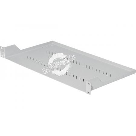 Triton 19' Fachboden für Wandgehäuse und Netzwerkschränke, Frontmontage 1 HE, Tiefe 250 mm, 20 kg, hellgrau RAL 7035 Zur Befestigung an 2 Holmen