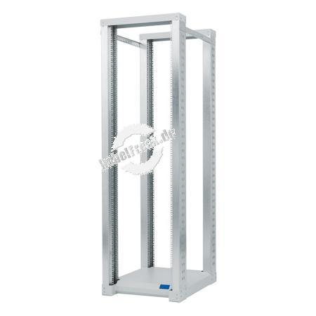 Triton 19' Gestellrahmen / Rack RSX, 2-teilig, 42 HE, 616 x 800 mm (+ 2x 150 mm für Standfüße), hellgrau RAL 7035 Offener 19' Rahmen mit 4 Holmen, komplett zerlegbar,