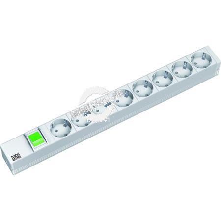 Bachmann 19' PDU Basic, Steckdosenleiste mit Schalter 8-fach Schutzkontaktsteckdose