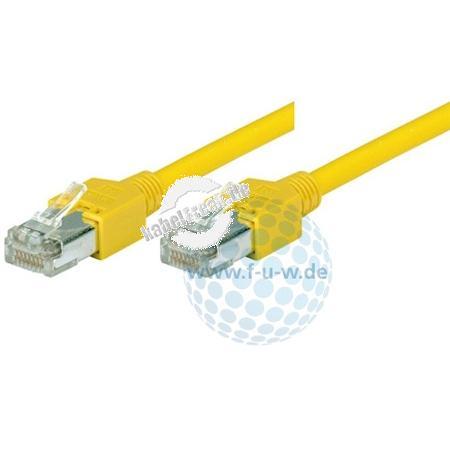 Tecline Patchkabel Cat. 5e, S/UTP, hochflexibel, gelb, 1,5 m Hochflexibles Premiumpatchkabel mit Dätwyler Rohkabel und Hirose Steckern