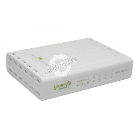 D-Link Gigabit Switch, 5 Port, Desktop Energiesparender Switch zum Anschluss von bis zu 5 PCs an ein Gigabi Ethernet Netzwerk
