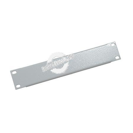 Triton 10' Blindplatte, 1 HE, Stahlblech, hellgrau RAL 7035 Zur Abdeckung der freien Räume zwischen den 10' Profilen