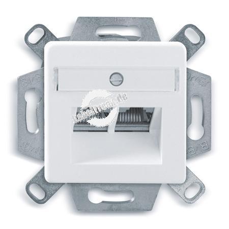 Dätwyler Datendose CSA Plus 2/8 Cat.6A (IEC), 2-fach, Unterputz, reinweiß RAL 9010 Zum Anschluss von 2 PCs