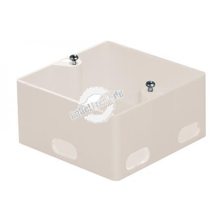 Aufputzgehäuse für Unterputz Datendosen, Ausbrüche zur Kabeleinführung, perlweiß RAL 1013 Zum Anschluss von 2 PCs