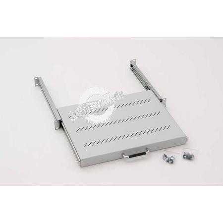 Triton 19' Dokumentenschublade / Fachboden, ausziehbar, Tiefe 350 mm, hellgrau RAL 7035 Verwendbar als Dokumentenschublade oder umgedreht als ausziehbarer Fachboden