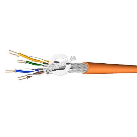 Draka Patchkabel UC900 SS27, Cat. 7, S/FTP (PiMF), halogenfrei, orange, 500 m Einwegtrommel Paarweise und gesamtgeschirmtes Patchkabel