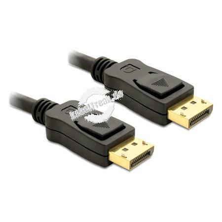 DeLOCK DisplayPort-Kabel, 20pol DisplayPort Stecker / Stecker, vergoldet, 2,0 m Anschlusskabel zur Übertragung von digitalen Monitor- und TV-Signalen