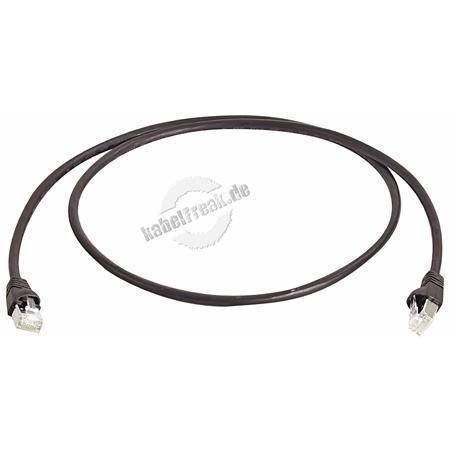 Telegärtner Patchkabel Cat. 6A ISO/IEC, S/FTP (PiMF), halogenfrei, schwarz, 50,0 m Für 10 Gigabit/s, halogenfrei, mit Telegärtner Kabel und Telegärtner-Steckern
