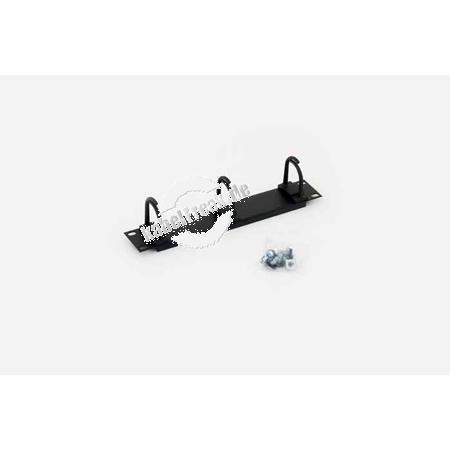 Triton 10' Rangierfrontplatte, 3 Kabelrangierbügel, 1 HE, schwarz RAL 9005 Zur geordneten Führung der Kabel im 10' Gehäuse