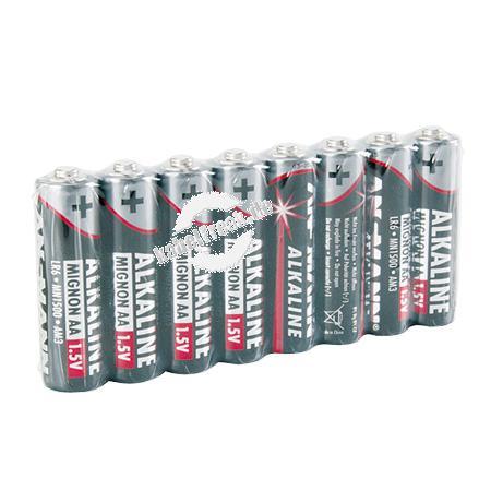 Ansmann Red-Line Batterie 8er Shrink, Mignon (AA), VE: 8 Stück Zellen mit hervorragender Qualität im ansprechenden Design für den tagtäglichen Einsatz
