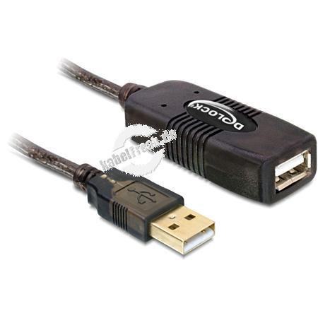 DeLOCK USB 2.0 Verlängerungskabel, aktiv 15 m Dieses USB Kabel können Sie an einen aktiven USB Port anschließen und dient zur Verlängerung der USB Schnittstelle um 15 m. Durch Anstecken einer weiteren 15 m Verlängerung lässt sich das Kabel um bis zu 30 m
