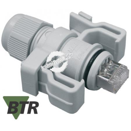 Metz Connect IP67 Modularstecker, Cat.6, hellgrau RAL 7035 Wasserdichter RJ45-Stecker für den rauen Industrieeinsatz
