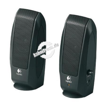 Logitech OEM Lautsprecher S120, 2,3 Watt (effektiv), schwarz Kompaktes 2-Kanal-Lautsprechersystem