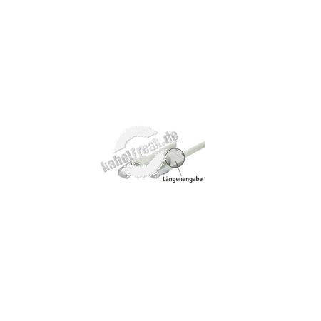 Patchkabel Cat. 5e, SF/UTP, mit Rastnasenschutz, grau, 0,5 m Geschirmtes Patchkabel mit schmalem Knickschutz