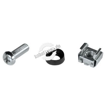 Triton Befestigungsmaterial Satz M6 (VE: 4 Stück) Grundmontagesatz für die Befestigung der Komponenten im Verteiler oder Gestellrahmen