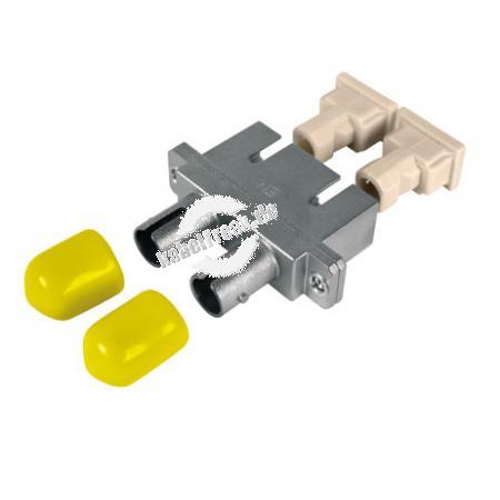 LWL Kupplung SC/ST, Duplex, Multimode, Metall-Gehäuse mit Keramik-Ferrule