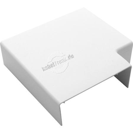 Hager Flachwinkel für Leitungsführungskanal tehalit.LF 40 x 110 mm, reinweiß RAL 9010, LFF401159010